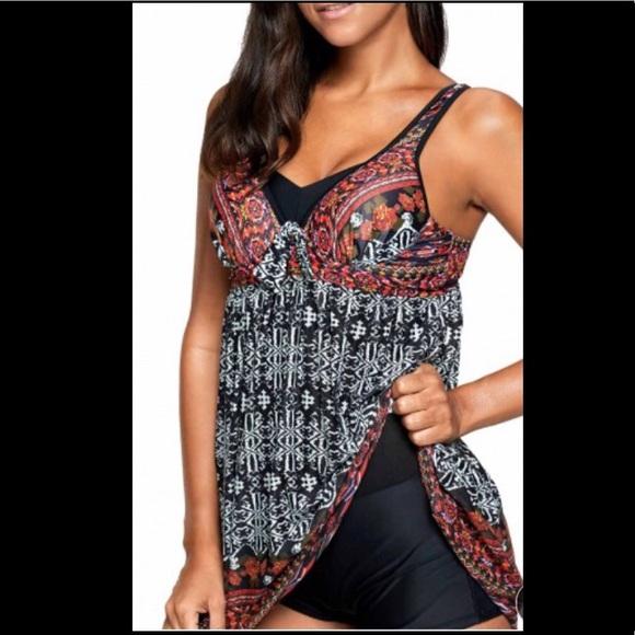 309f24ffe7 NWOT Bohemian open back padded Swimsuit Swimdress.  M_5ae7cb88a6e3ea43ab933ffd